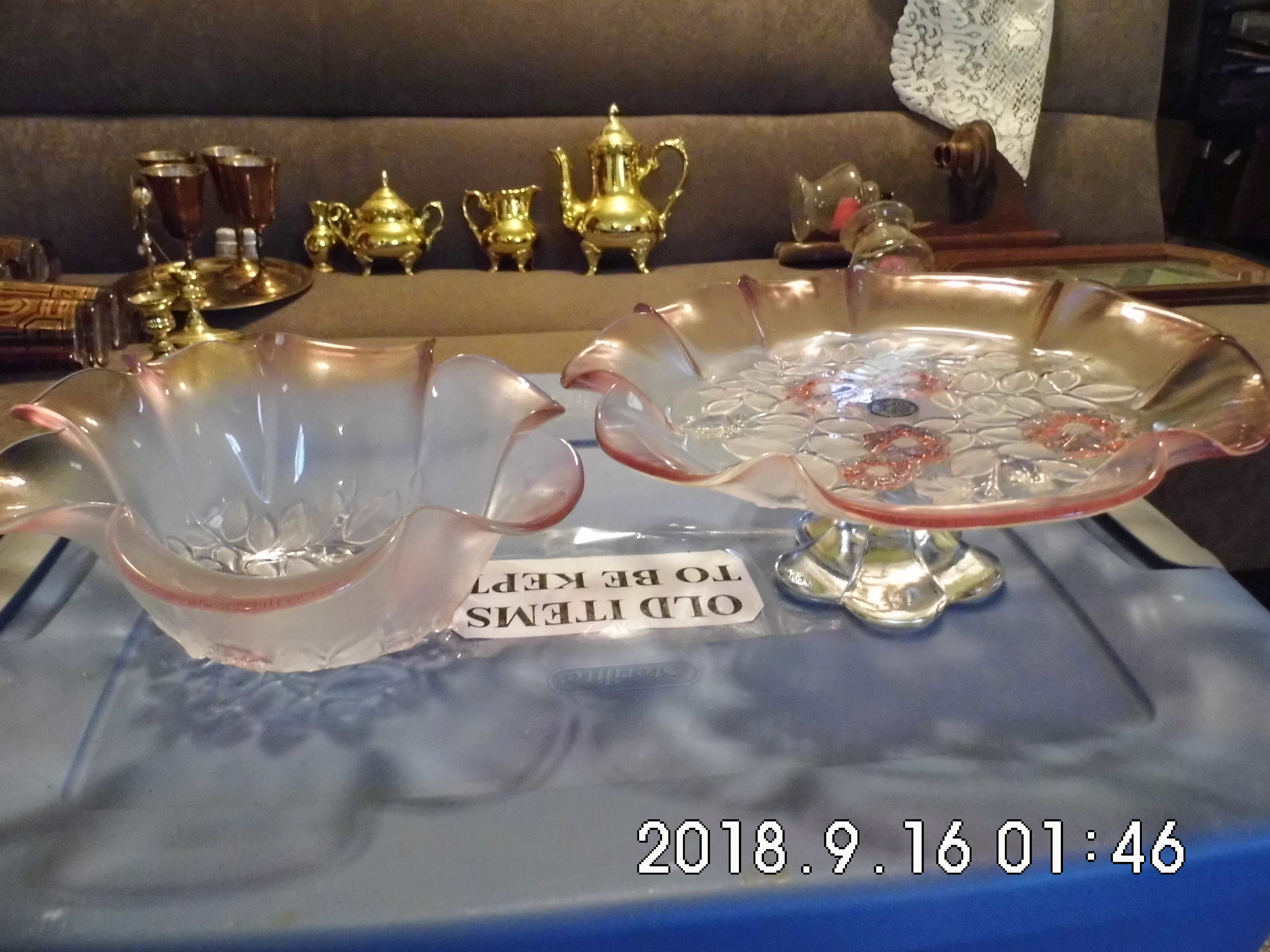 Cake Plate and Bowl