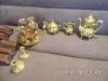 Gold plated tea set